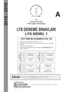 türk dili ve edebiyatı testi soru kitapçığı
