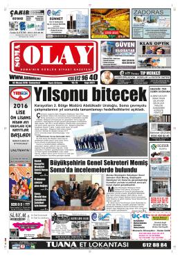 (3921) Cumartesi - Soma Olay Gazetesi