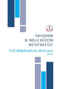 Veli Bilgilendirme Kılavuzu - Karacaören Cumhuriyet İlkokulu