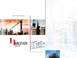 Tanıtım Katoloğu - hacettepe Çelik İnşaat GES Projesi