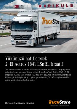 TruckStore ve Mercedes-Benz Finansal Hizmetler, finansman