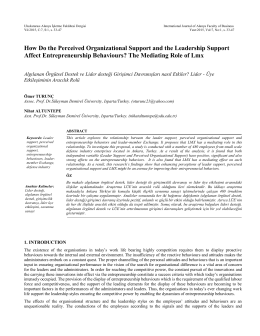The influence of organizational and leadership support