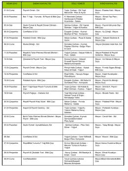 04-2014 Yemek Listesi