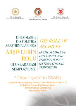 arşivlerin rolü - Atatürk Araştırma Merkezi