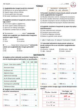 29 Mart Ödevi - Kartanelerim.com