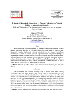 Full Text - İşletme Araştırmaları Dergisi