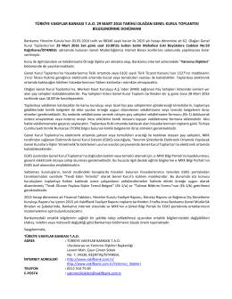 türkiye vakıflar bankası tao 29 mart 2016 tarihli olağan