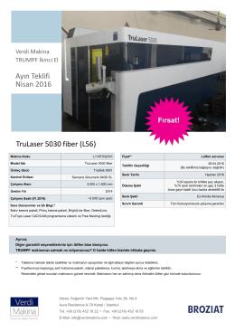 TruLaser 5030 fiber TruDisk 5001