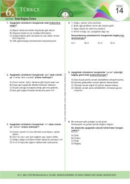 Edat – Bağlaç - Ölçme, Değerlendirme ve Sınav Hizmetleri Genel
