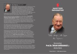 Kurucumuz Prof.Dr. İHSAN DOĞRAMACI`yı Anma Günü