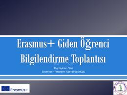 Dış İlişkiler Ofisi Erasmus+ Programı Koordinatörlüğü