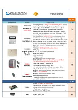 Alarm Sistemleri - Tecnosec