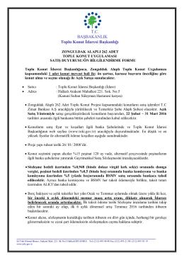 Toplu Konut İdaresi Başkanlığı TC BAŞBAKANLIK