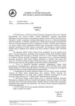 Tek Pencere Sistemi – ÇŞB - T.C. Gümrük ve Ticaret Bakanlığı
