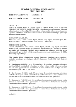 karar 281 torku konya spor – galatasaray odeabank spor toto