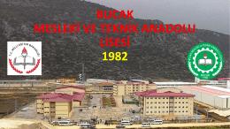 Okul Tanıtım Sunumu - Bucak Mesleki ve Teknik Anadolu Lisesi