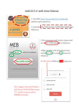 meb.k12.tr web sitesi kılavuz