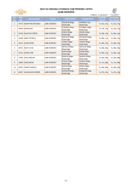 2016 Zorunlu Yer Değişikliğine Tabi Personel Listesi