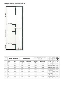 Hidrolik asansör ölçüleri