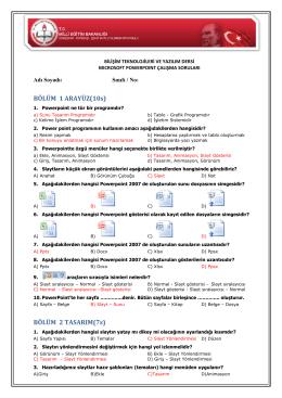 PowerPoint Örnek Sorular - 2
