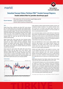 İstanbul Sanayi Odası Türkiye PMI™ İmalat Sanayi Raporu