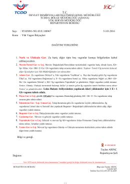 31.03.2016 - Devlet Demir Yollari 6.Bölge