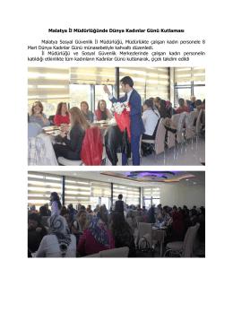 Malatya İl Müdürlüğünde Dünya Kadınlar Günü Kutlaması