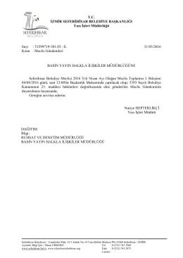 dosyayı indir - Seferihisar Belediyesi