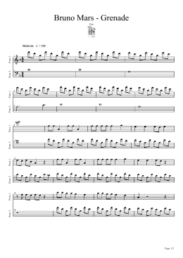 Bruno Mars - Grenade - Daily Piano Sheets