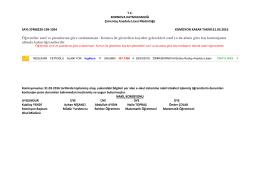 11.sınıf nakil sonuçları - Çimentaş Anadolu Lisesi