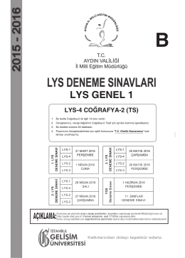 lys-4_coğrafya-2 testi soru kitapçığı – b