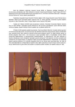Zonguldak`ta Kitup II Toplantısı Üniversitede Yapıldı Kayıt dışı