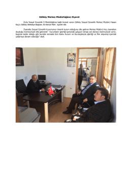Gölköy Merkez Müdürlüğüne Ziyaret