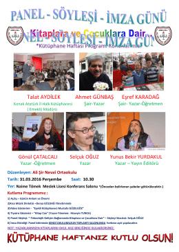kütüphanecilik haftası - Ali Şir Nevai Ortaokulu