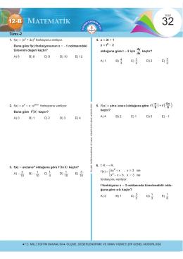 Türev -2 - Ölçme, Değerlendirme ve Sınav Hizmetleri Genel