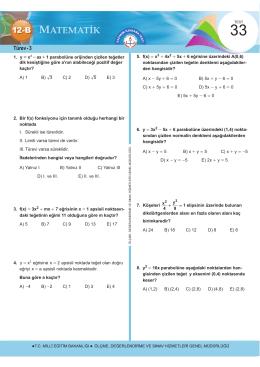 Türev - 3 - Ölçme, Değerlendirme ve Sınav Hizmetleri Genel