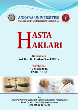 hasta hakları - Sağlık Hizmetleri Meslek Yüksekokulu
