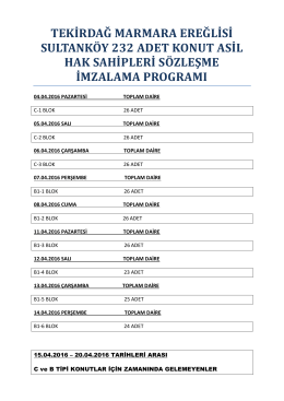 Sözleşme İmzalama Programı