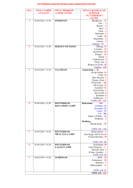 rotterdam ataşeliği bölgesi sınav merkezleri listeleri