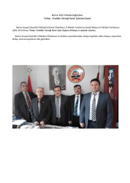 Bartın SGK İl Müdürlüğünden Türkiye Emekliler Derneği Bartın