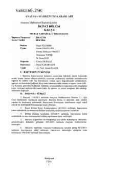 Anayasa Mahkemesinin 18/2/2016 Tarihli ve 2013