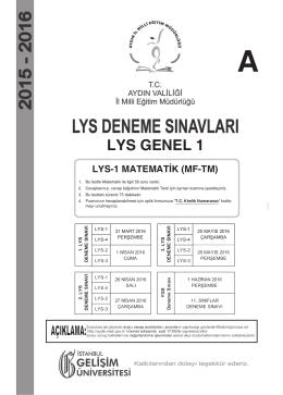 a lys genel 1