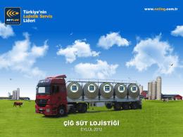 Çiğ Süt Lojistiği / Uygar Uşar / NETLOG