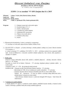 Zápis VV č. 6