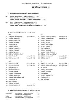 Zpráva č. 11