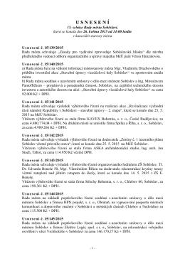 Usnesení - Město Soběslav