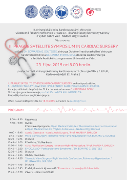 pozvanka_Prague Satellite Symposium In Cardiac Surgery_2015
