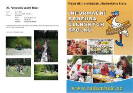 Brožura členských spolků RADAMBUK duben 2015
