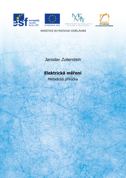 Jaroslav Zukerstein Elektrická měření