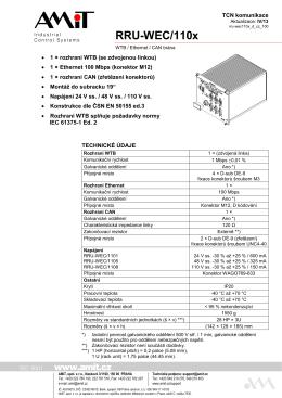RRU-WEC/110X - leták - AMiT